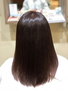 ヘアー アステリア(HAIR ASTRIA)の写真/【FIBRE PLEX取り扱い店!】繰り返しても毛先しなやかで憧れの自然なさらさらストレートヘアーに。