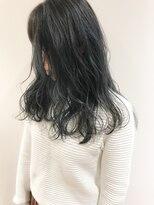 暗髪濃いめグレージュ×透明感カラー☆feuille中村大輔