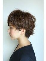 ルピック(Lepic by chiffon)前髪大人かわいいココアブラウン、フリンジウェーブセシルカット