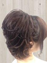 編み込み すじ盛りヘアー 結婚式 二次会 お呼ばれヘア