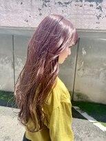 ヘア プロデュース キュオン(hair produce CUEON.)juicy pink × long