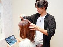 ヘアーアンドスパ フェザー(hair&spa feather)の雰囲気(ヘッドスパを初めて体感される方は頭皮のチェックもできます!)