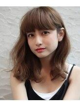 グランツヘアデザイン 四谷(GRANZ hair design)厚めバング×無造作カール