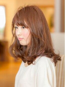 ニームヘアー(nim hair)の写真/美しいツヤと発色で周囲の目線はあなたに釘付け☆サロン帰りの仕上がりが長持ちする優秀カラー♪