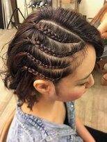 ヘアセットサロン アトリエ チャイ(Hair set salon atelier CHAI)ハーフラウンドコーンロー☆風☆
