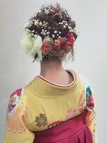 アリス ヘア デザイン(Alice Hair Design)Alice☆卒業式×かすみ草とチュールリボンのアレンジ