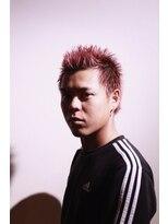 メンズヘアースパイス ユメサキ(Men's Hair SPICE -yumesaki-)ピンクカラーオシャレボウズ