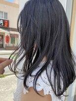ジャパンヘアー 新都心店(JAPAN hair)ロング ダークブルー