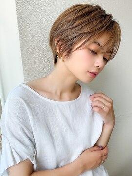 ラルユー(LallYou)前髪パーマ/韓国くびれミディ/マロンベージュ/モテ髪/ミニボブ