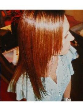 縮毛矯正専門店 ヘアーデザインリンク 八王子(Hair Design Link)ブリーチもサラサラ縮毛矯正。