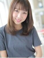 アグ ヘアー ドレス 喜久田店(Agu hair dress)軽やかなツヤとシースルーバングのナチュストレート