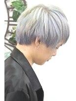 ヘアーサロン エール 原宿(hair salon ailes)(ailes 原宿)style376 デザインカラー☆ホワイトシルバー
