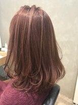 宇都宮美容室 暖色系カラー ピンク