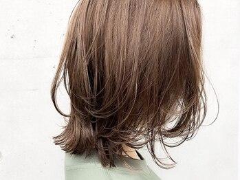 モナヘアー ピウ(mona hair piu)の写真/5~13トーンのお洒落白髪染め☆ダメージレスオーガニックやボタニカルカラーはくすまず,艶のある仕上がり◎
