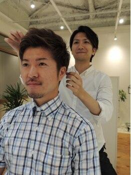 ヘアデザイン ソソ(hair design SOSO)の写真/【船橋】毛束感・バランス・シルエット…計算されつくしたメンズスタイル。スキャルプやパーマmenuも豊富☆