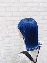 ビス ヘア アンド ビューティー 西新井店(Vis Hair&Beauty)10代インスタ人気外ハネロブディープブルー