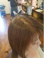 50代女性ラディアルカラー(明るい白髪染め)ベージュ