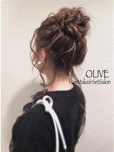 ヘアーメイクアンドセットサロン オリーヴ(HairMake&SetSalon OLIVE)【オリーブ】お団子ヘア