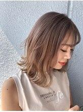 ヘアーサロン クスキ(hair salon KUSUKI)前下がりの外はねスタイル☆ ブリーチ2回