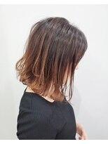 エイム ヘアメイク 横川店(eim HAIR MAKE)切りっぱミディ×ソフトグラデ