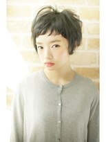 サラヘアー(sarah hair)【sarah 銀座】前髪短めショートパーマボブ、黒髪、暗髪◎