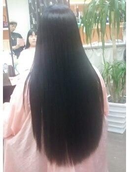 シャングリラ Shangri‐La ヘアメイク hairmakeの写真/【大人女性の髪質改善サロン】ゴワつきやハイダメージでお悩みの方に◎使う度に潤いを与え本来の健康な髪へ