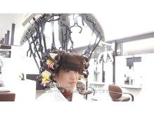 カウンセリング サロン ヘアー バグス(counseling salon Hair BAGUS)の雰囲気(プロモーションビデオ時の「ストカール」ロットを巻きました。)