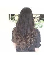 イクシェル 豊中店(IXCHEL)【本田晋一】ブルーアッシュのグラデーション
