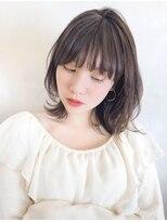 ガーデン アオヤマ(GARDEN aoyama)豊田楓 外ハネボブ 大人かわいい ミディアム 小顔 ベージュ