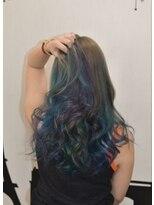 ヘアーサロン エール 原宿(hair salon ailes)(ailes 原宿)style366 ブルージュレインボー☆ヴェールウェーブ