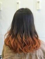 オレンジ アクセント グラデーションカラー『千葉 ラフ』