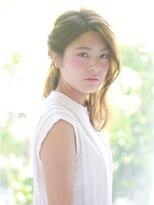 クィーンズガーデンバイケーツーギンザ(QUEEN'S GARDEN by K two GINZA)[K-two銀座]ねじり夏のヘアアレンジ