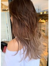 ヘアデザイン グリッター(hair design GLITTER) 3D highlight×long layer