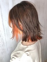 ソース ヘアアトリエ 梅田(Source hair atelier)【SOURCE】インナーカラーオレンジ