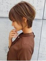 トゥーナ 表参道(tona)外ハネくびれイヤリングカラーイメチェンラベンダーカラー前髪^