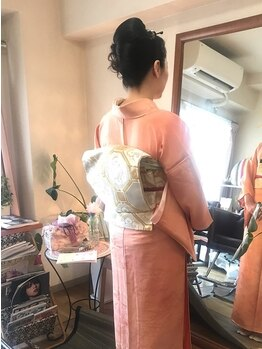 ヘアサロン 美髪(mikami)の写真/崩れず動きやすい◎プロの技術で自分だけのスタイルを♪結婚式や大切な行事は普段とは違う華やかな着物姿で