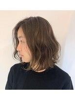 テラスヘア(TERRACE hair)ナチュラルベージュ × ラフボブ