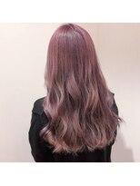 アリーズヘアー 青山(allys hair)ヘルシーレイヤー ピンクパープルイルミナカラー