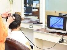 ヘアサロンカルモ(HAIR SALON CALMO)の雰囲気(マイクロスコープの頭皮診断も行っております。0422-48-8021)
