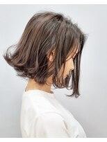 エイム ヘアメイク 横川店(eim HAIR MAKE)ダークバイオレット×切りっぱショートボブ