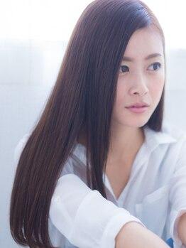グローヘアーデザインスパ(Glow hairdesign spa)の写真/シルクのような手触りを♪こだわりのつよい大人女性からも圧倒的支持!誰もが振向く潤ツヤ美髪を実現…☆