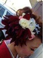 成人式 卒業式 Flower decoration 2