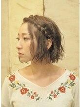 シュシュ ヘアーメイク(chou chou HAIR MAKE)ミニボブ風フェミニンアレンジカット
