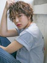 【SUN】セミウエット☆ストリートショート ミックスパーマ
