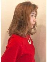 キャロル(CAROL)☆ミディアムヘアスタイル「ピンクグレージュ」