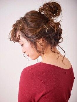 キキ(kiki by KENJE)の写真/カットやカラーの雰囲気に合わせたヘアアレンジでも人気のkiki☆卒業式,結婚式など利用多数!【新百合ヶ丘】