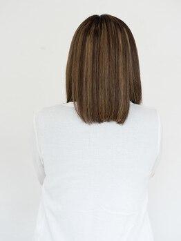 ヘアーメイク マリーシュッド(hair make MAREE SUD)の写真/<MAREE SUD>の縮毛は時短×髪に優しい♪トリートメントをしながら縮毛でき、早くてダメージレスだと好評◎