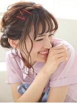 ピノ ウメダ(Pinot UMEDA)モテ愛されふわふわカール☆シースルー斜めバンク☆ボブアレンジ