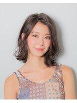 ムード 金沢文庫 hairdesign&clinic mu;d無造作外ハネロブ×大人アッシュベースカラー