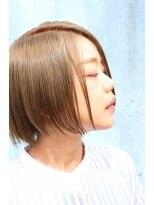 ヘアデザイン ル クール(hair design Le coeur)イルミナカラーで抜け感のあるボブスタイル